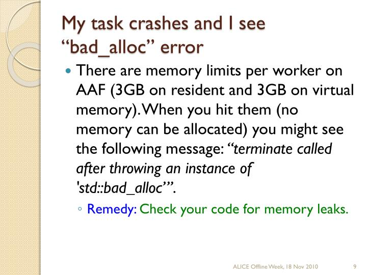 """My task crashes and I see """""""