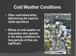 cold weather conditions