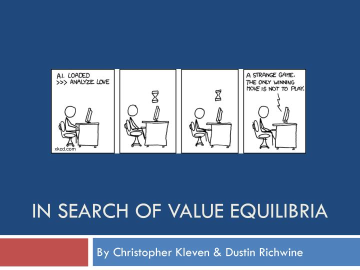 in search of value equilibria n.