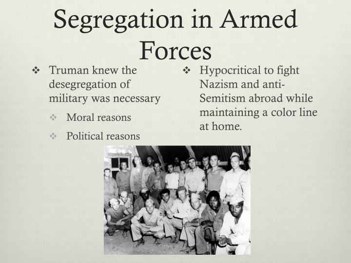 Segregation in Armed Forces