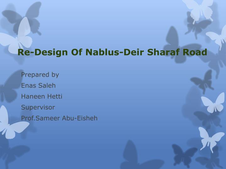 re design of nablus deir sharaf road n.
