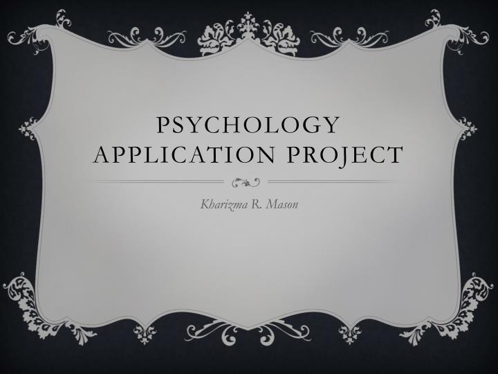 psychology application project n.