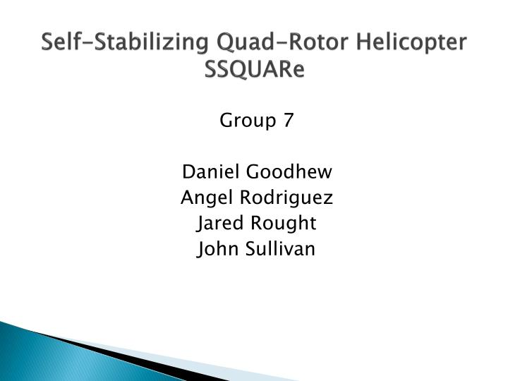 self stabilizing quad rotor helicopter ssquare n.