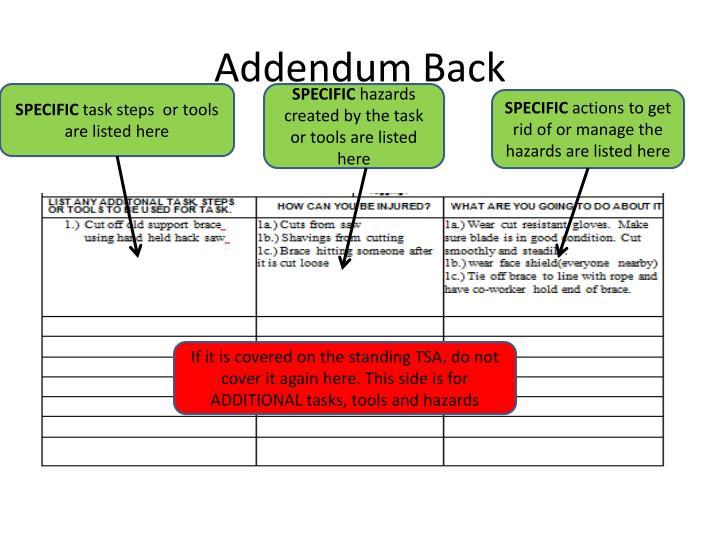 Addendum Back