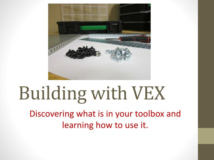 building with vex n.