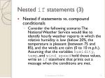nested if statements 31