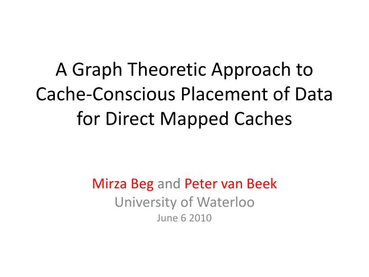 a graph theoretic approach to cache conscious placement of data for direct mapped caches n.