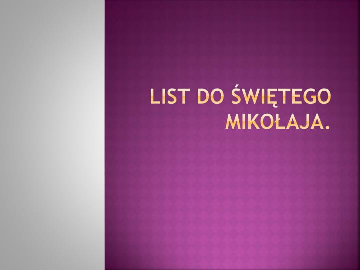 list do wi tego miko aja n.