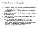 philip ii and the english