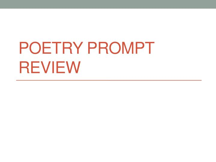 poetry prompt review n.