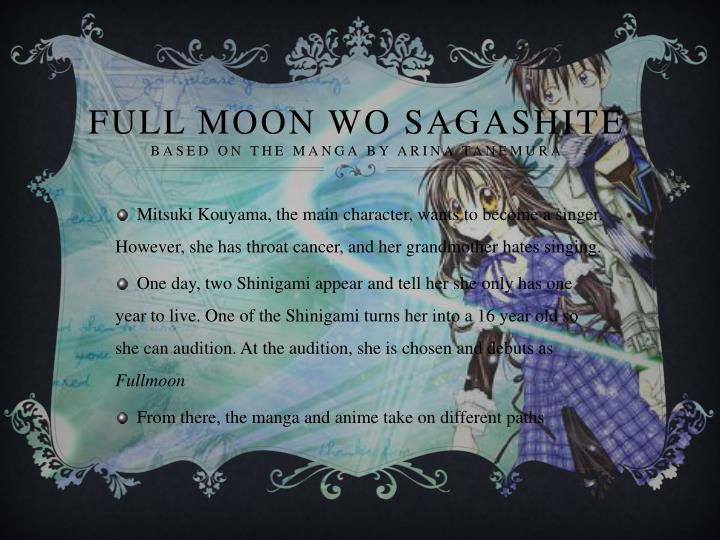 Full moon wo sagashite based on the manga by arina tanemura