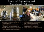 spacecraft engineering and operations in colorado