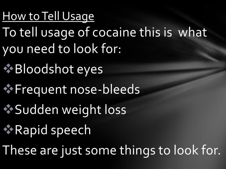 How to Tell Usage