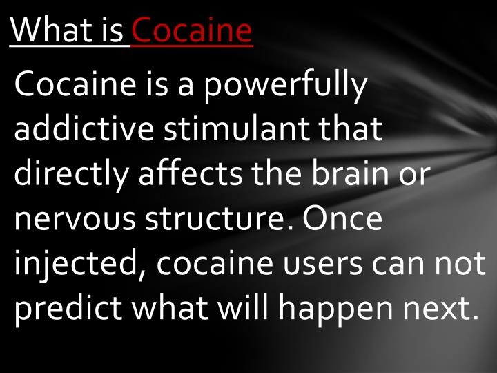 What is cocaine