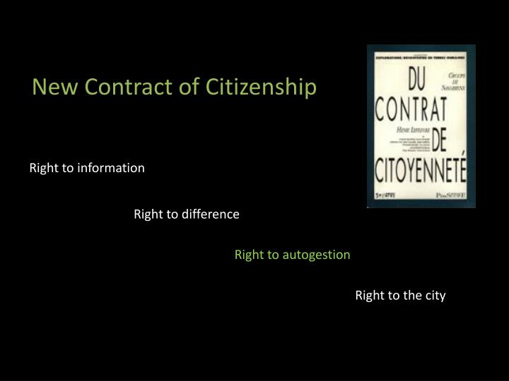 New Contract of Citizenship
