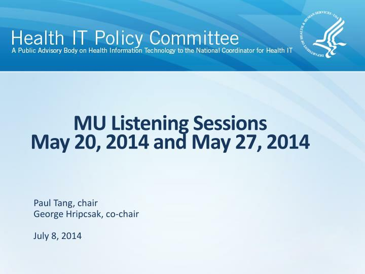 Mu listening sessions may 20 2014 and may 27 2014