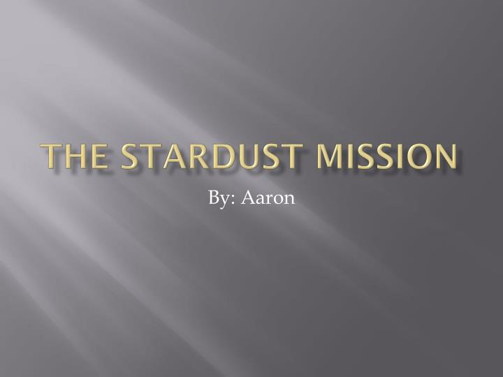 the stardust mission n.
