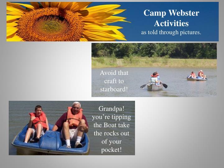 Camp Webster Activities
