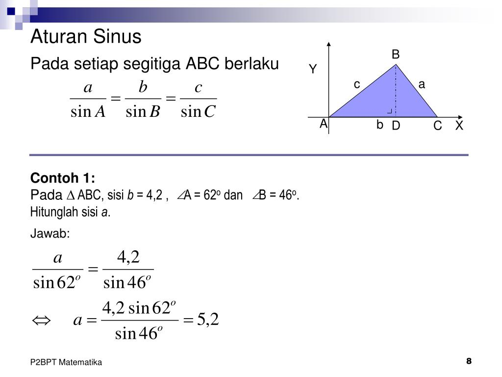 Ppt Pengertian Perbandingan Trigonometri Nilai Sinus Cosinus Dan Tangen Teorema Phytagoras Powerpoint Presentation Id 2021465
