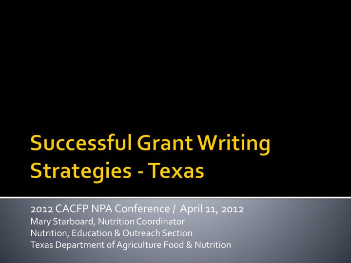successful grant writing When professors advise early-career academics on grant writing, we often focus on the common mistakes and pitfalls but up-and-coming researchers don't just need advice on what not to do they need to know what goes into a successful grant proposal, too i have some suggestions on that front.