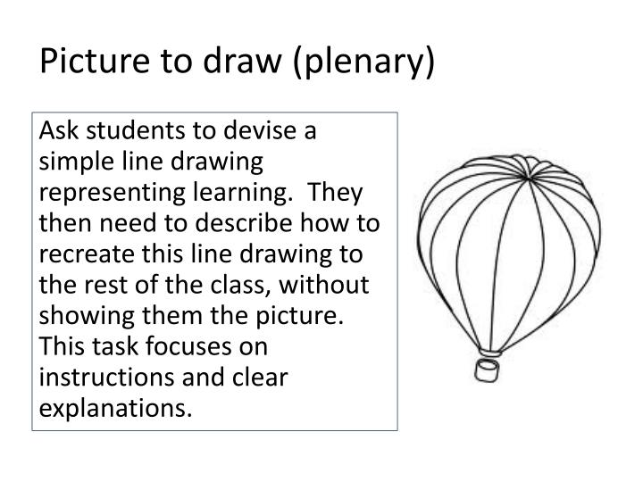 Picture to draw (plenary)
