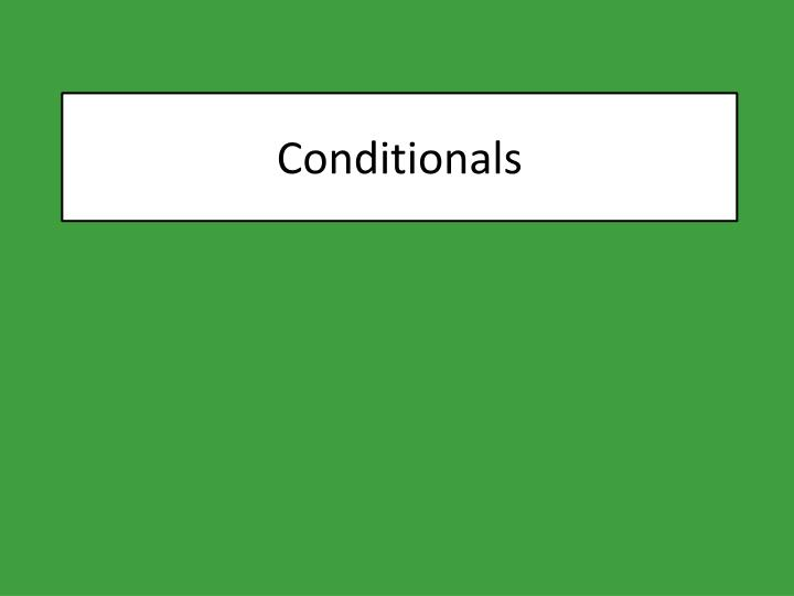 conditionals n.
