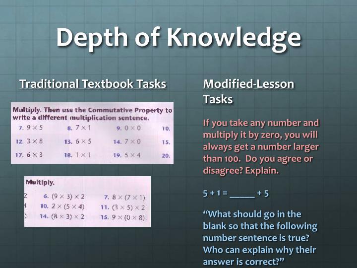 Depth of Knowledge