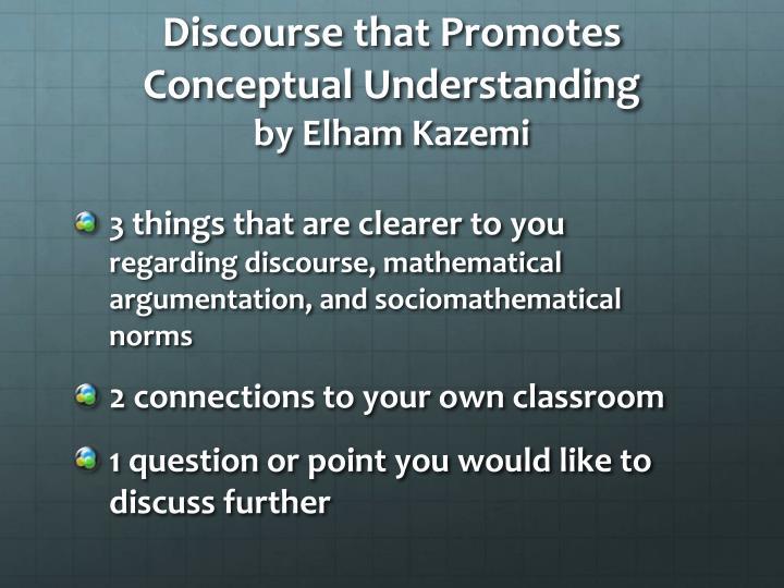 Discourse that Promotes