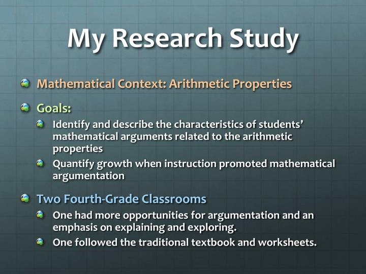My Research Study