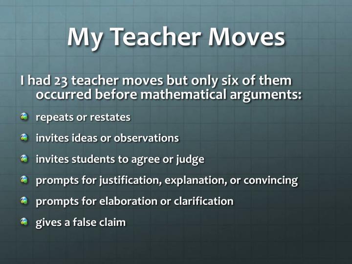 My Teacher Moves
