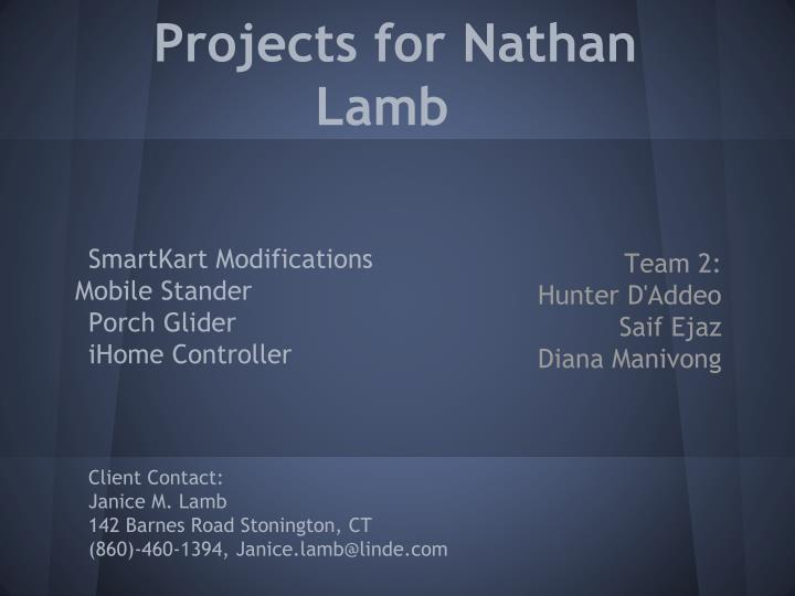 projects for nathan lamb n.