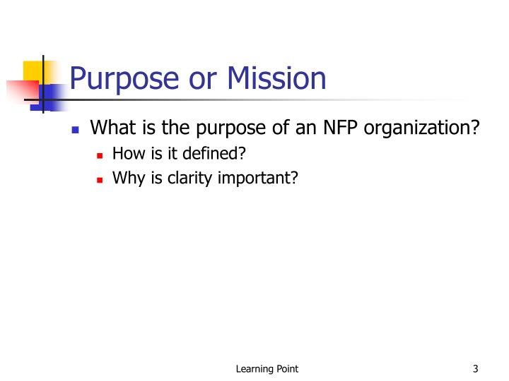 Purpose or mission
