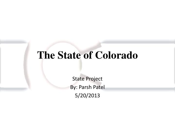 the state of colorado n.