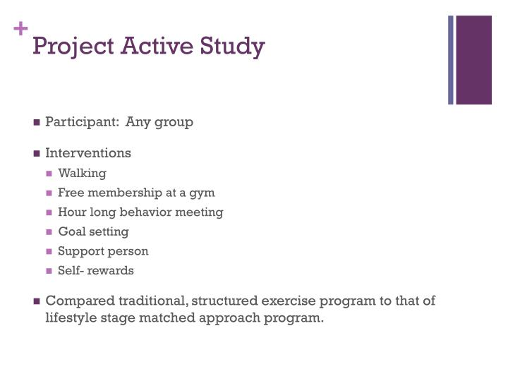Project Active Study