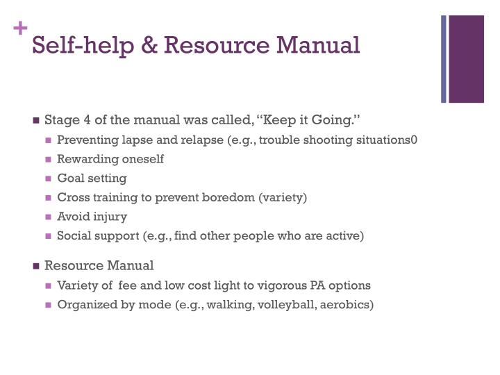Self-help & Resource Manual