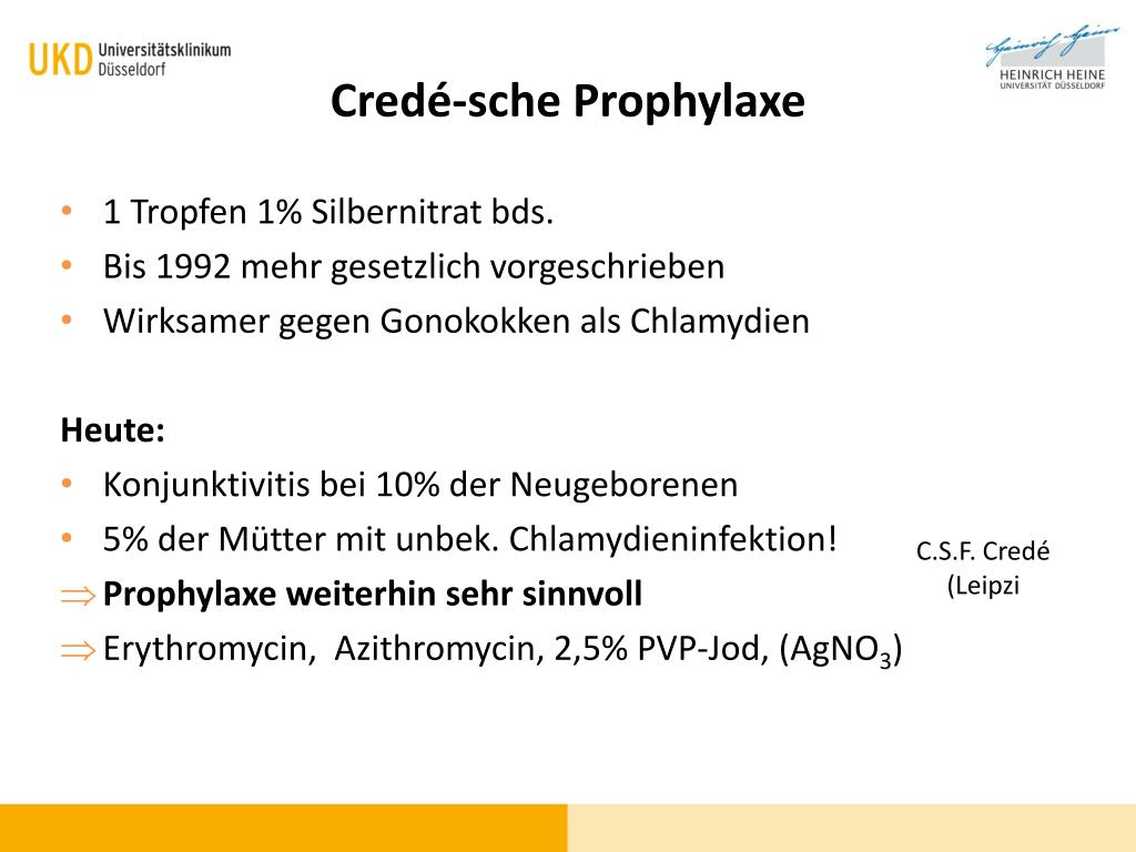 Crede prophylaxe