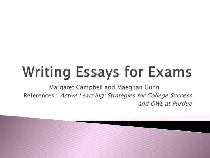 writing essays for exams n.
