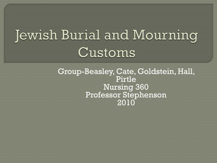 jewish burial and mourning customs n.