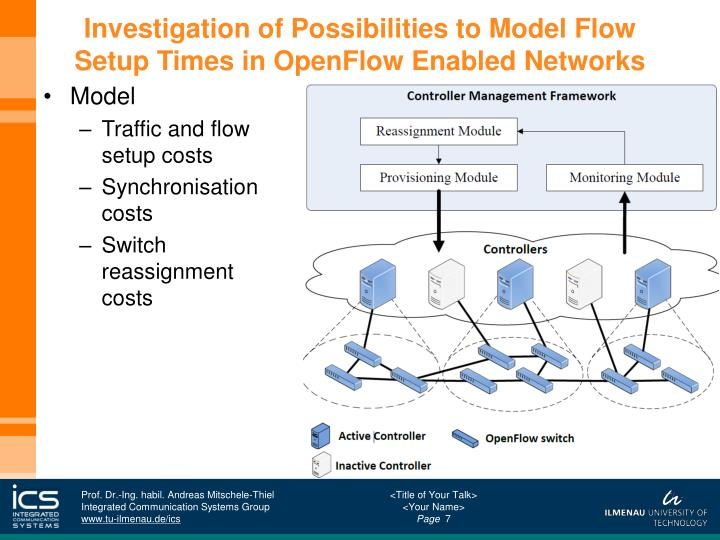 Investigation of Possibilities to Model Flow Setup Times in