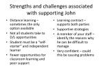 strengths and challenges associated with supporting john