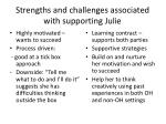 strengths and challenges associated with supporting julie