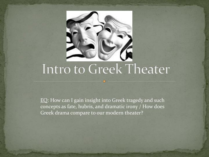 intro to greek theater n.