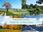 how to read literature like a professor by thomas c foster1