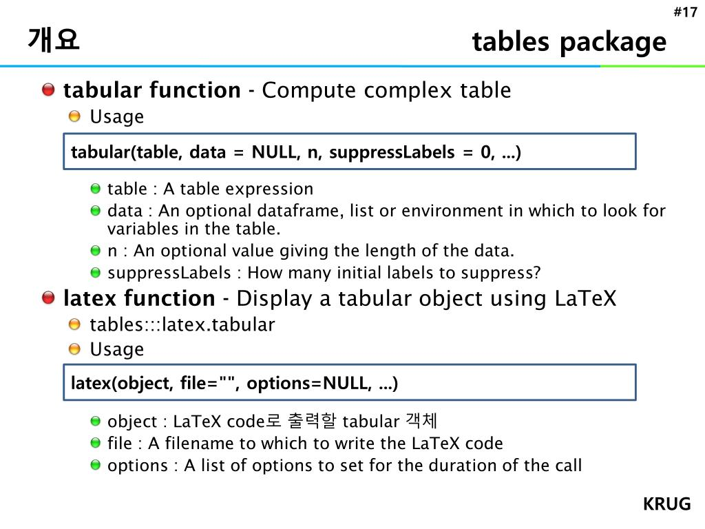 Tabular latex