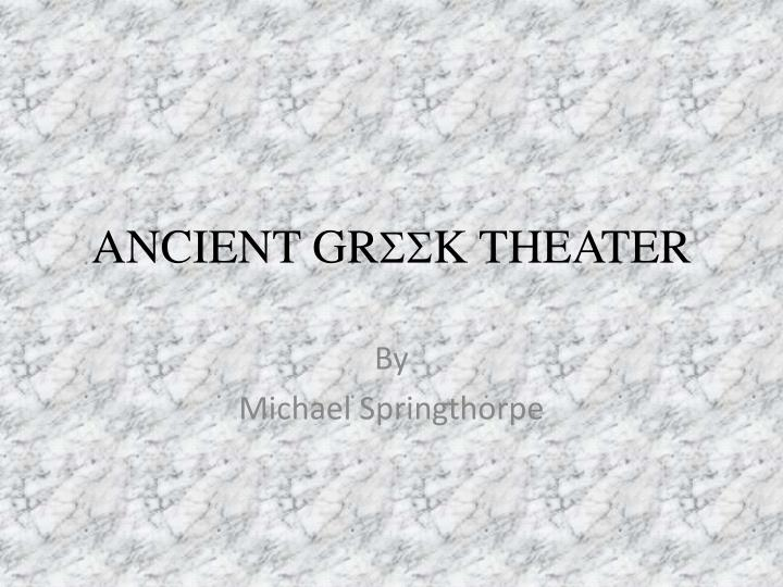 ancient gr ss k theater n.