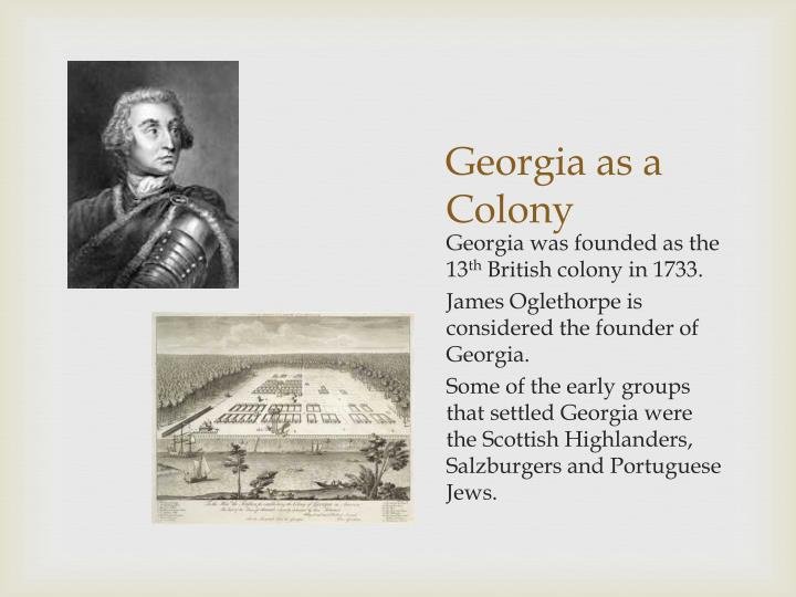 Georgia as a Colony