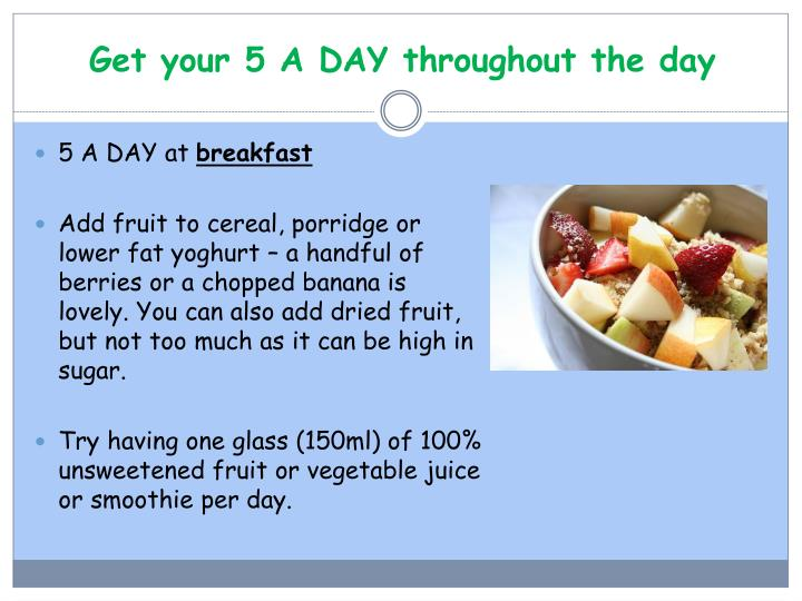 Get your 5 a day throughout the day