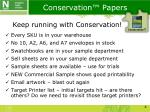 conservation papers