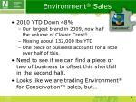 environment sales