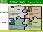 neenah paper strategic selling